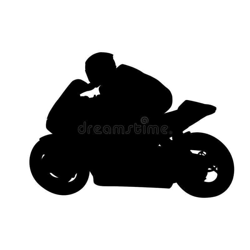 Motorcykel som springer den isolerade vektorkonturn stock illustrationer