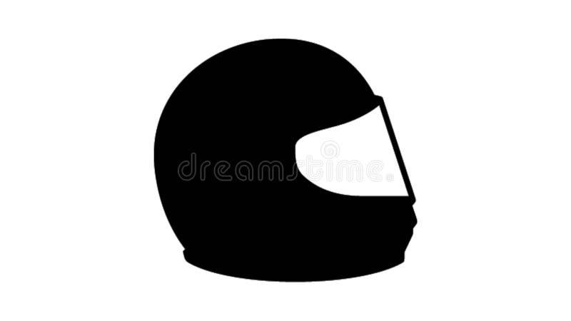 Motorcykelhjälmillustration stock illustrationer