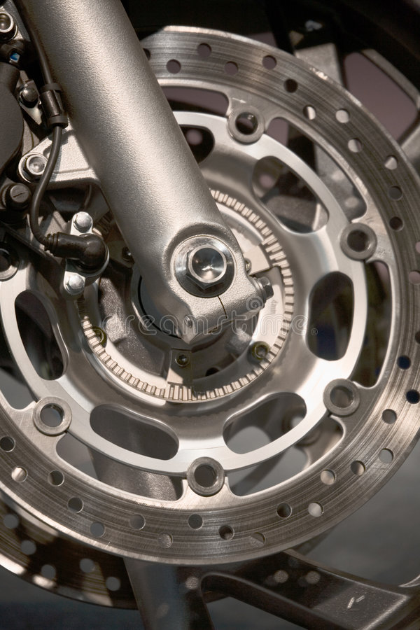 motorcykelhjul royaltyfria bilder