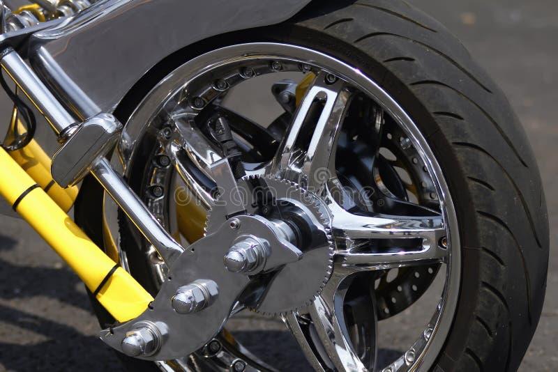 motorcykelhjul arkivfoton