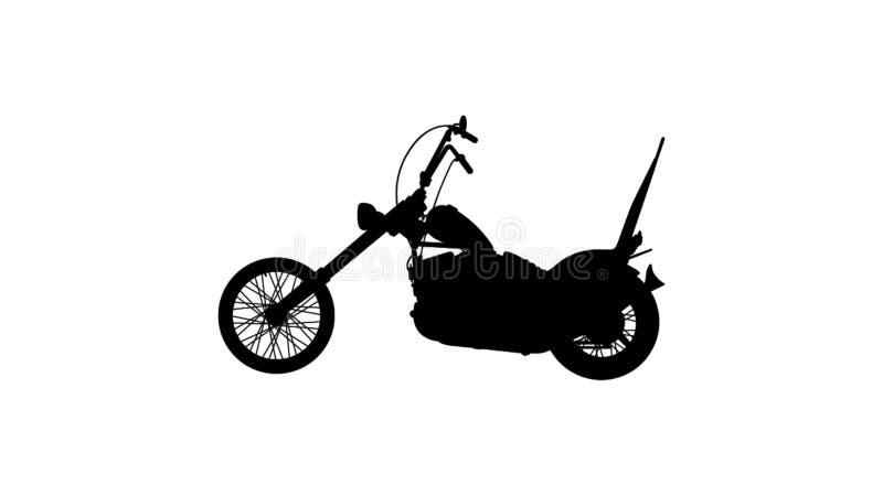 Motorcykelillustration vektor illustrationer