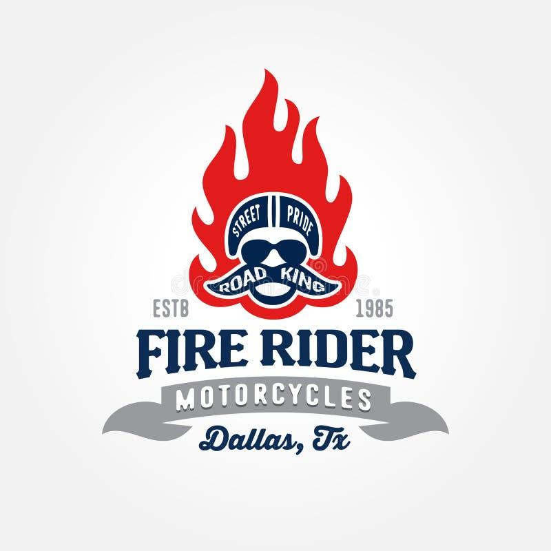 Motorcykeln shoppar logomallen royaltyfri illustrationer