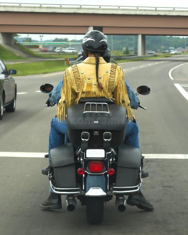 motorcykelpigtail royaltyfri fotografi