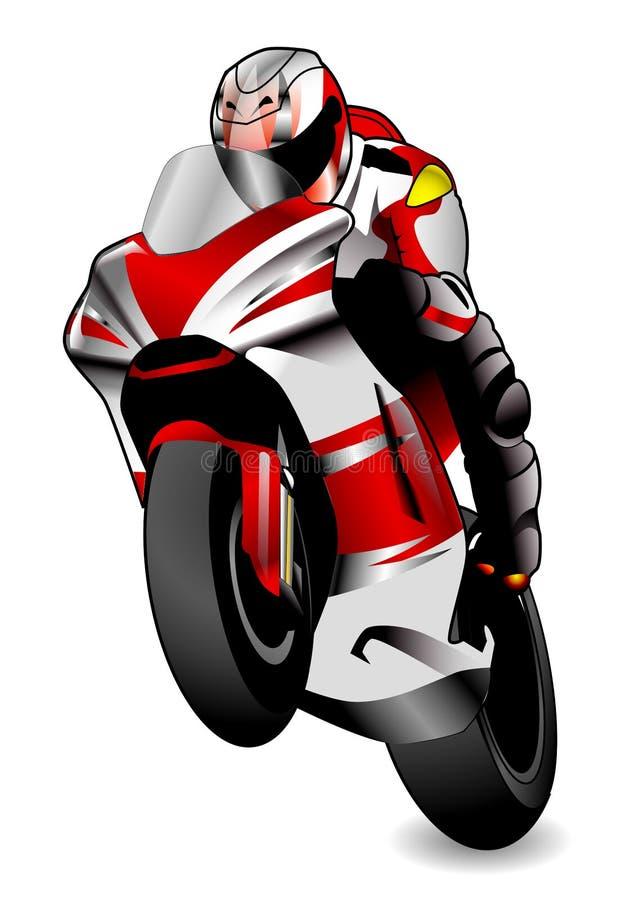 motorcykelrace royaltyfri illustrationer