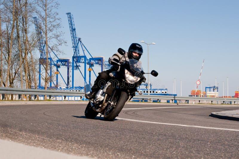 motorcykelridning royaltyfri foto