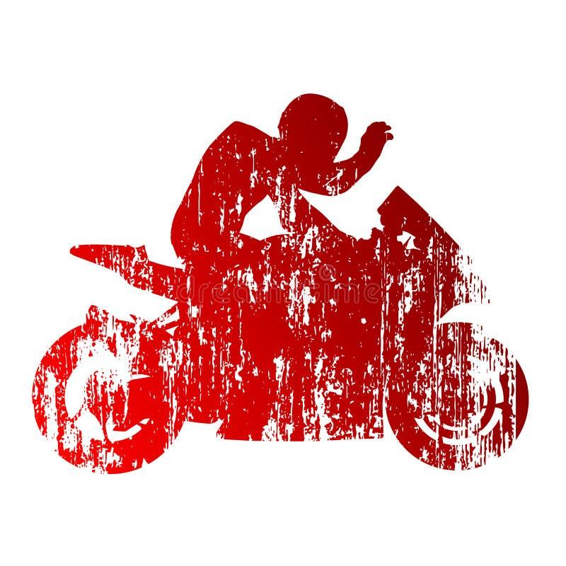 Motorcykelryttare stock illustrationer