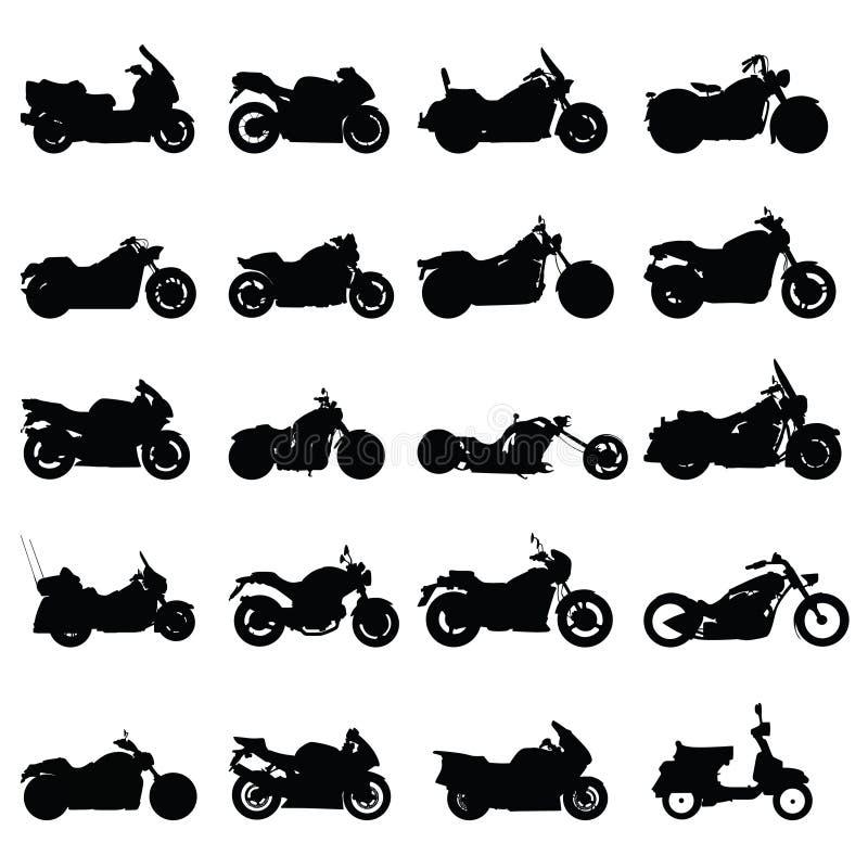 motorcykelset stock illustrationer