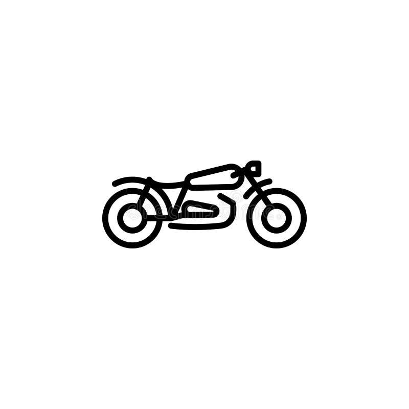 Motorcykelsymbol Beståndsdel av mopeden för mobil begrepps- och rengöringsdukappsillustration Tunn linje symbol för websitedesign vektor illustrationer