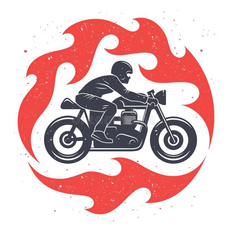 Motorcykeltryckdesign 001 royaltyfri illustrationer