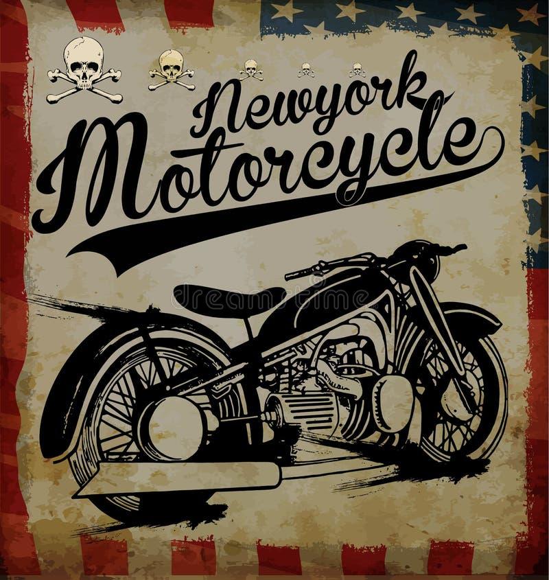 Motorcykelutslagsplatsdiagram royaltyfri illustrationer