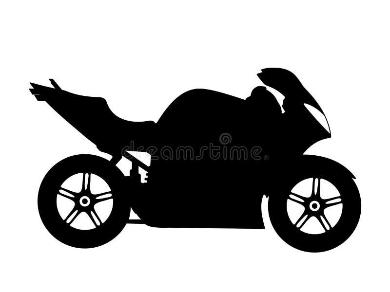motorcykelvektor stock illustrationer