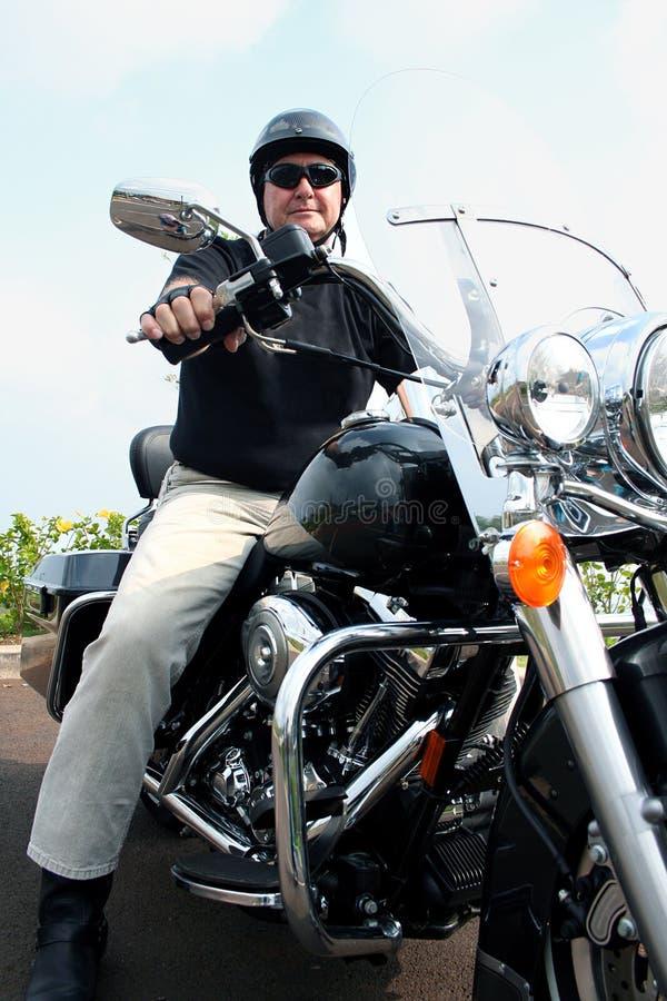 Motorcylce Man stock photography