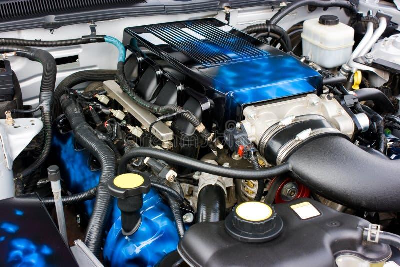 Motore 2009 di Saleen del mustang del Ford fotografia stock