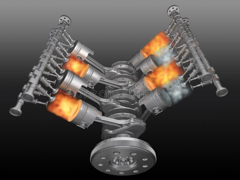 Motore. illustrazione vettoriale
