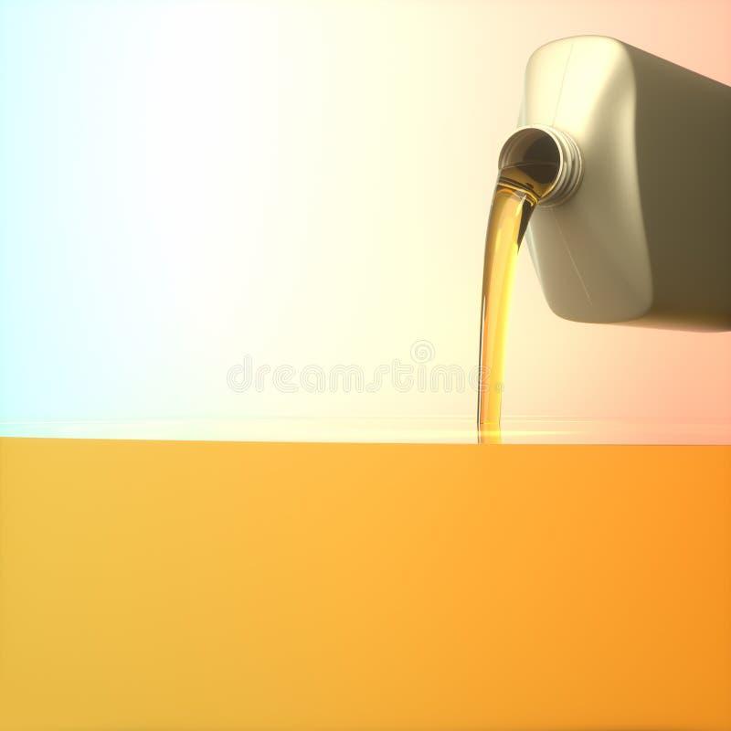 Motore automobilistico diesel dell'olio illustrazione vettoriale