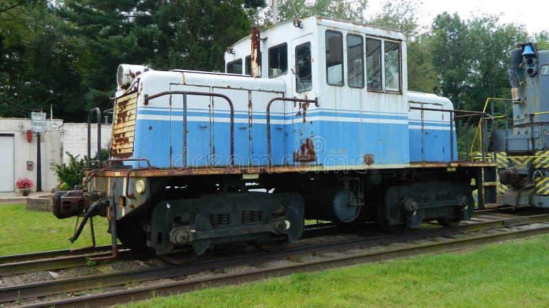 Motore d'annata del treno fotografie stock