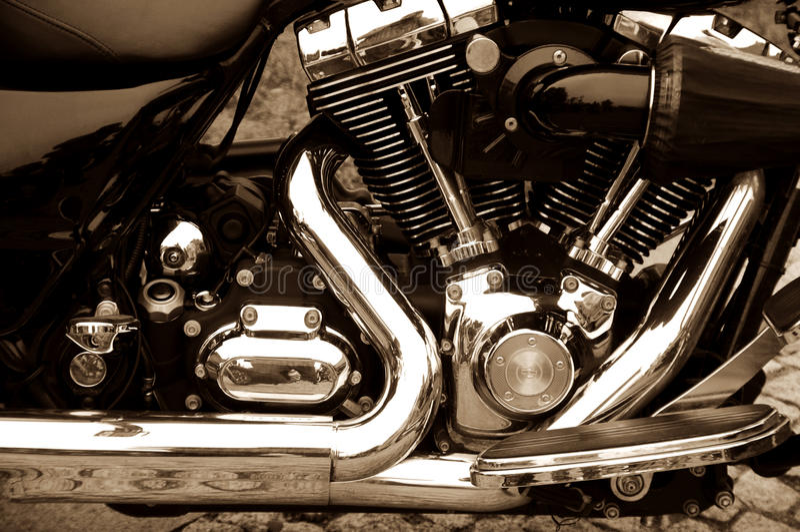 Motore del motociclo fotografie stock libere da diritti
