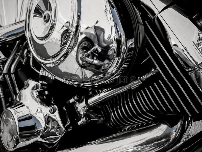 Motore del motociclo come fondo immagini stock