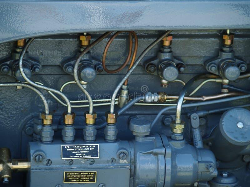 Motore del trattore a cingoli fotografia stock libera da diritti