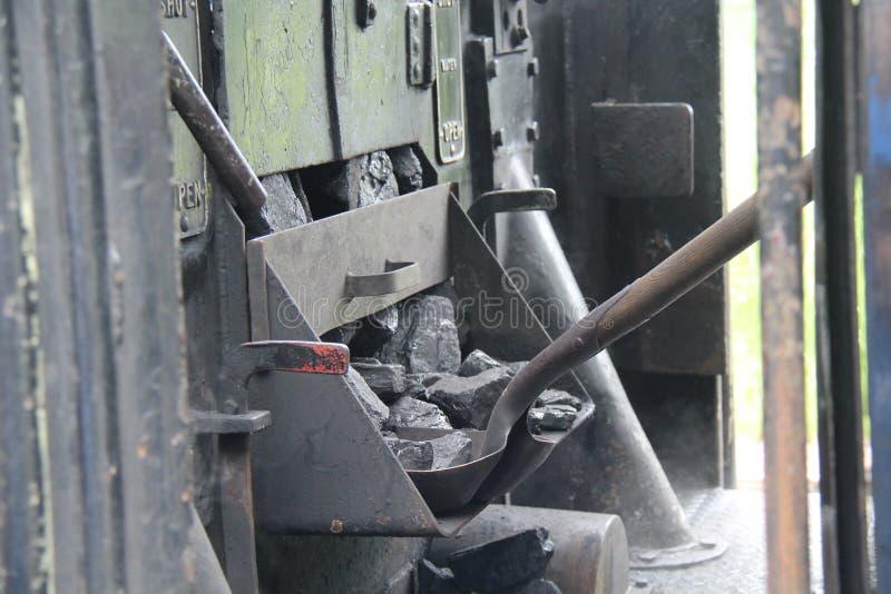 Motore del treno a vapore immagini stock
