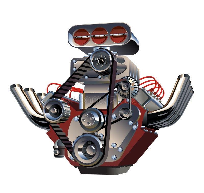 Motore del turbo del fumetto di vettore illustrazione vettoriale