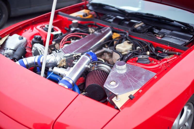 Motore dell'automobile della deriva fotografia stock