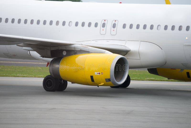 Motore della turbina dell'aeroplano immagini stock