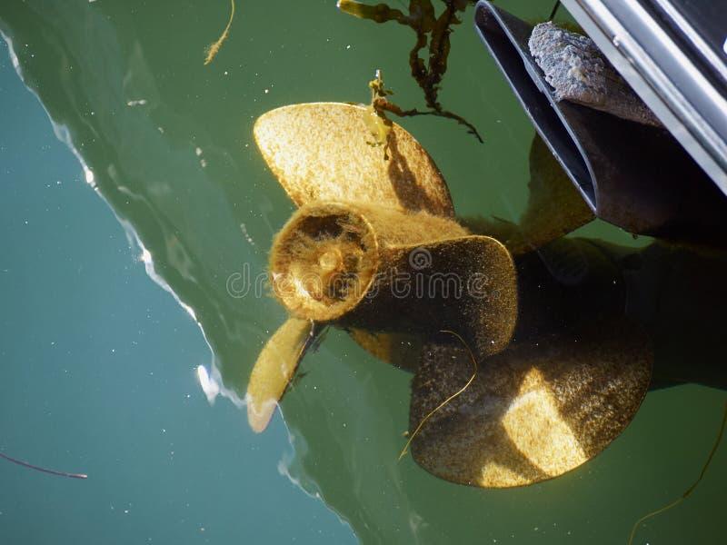 Motore della vite dell'elica della barca fotografia stock libera da diritti
