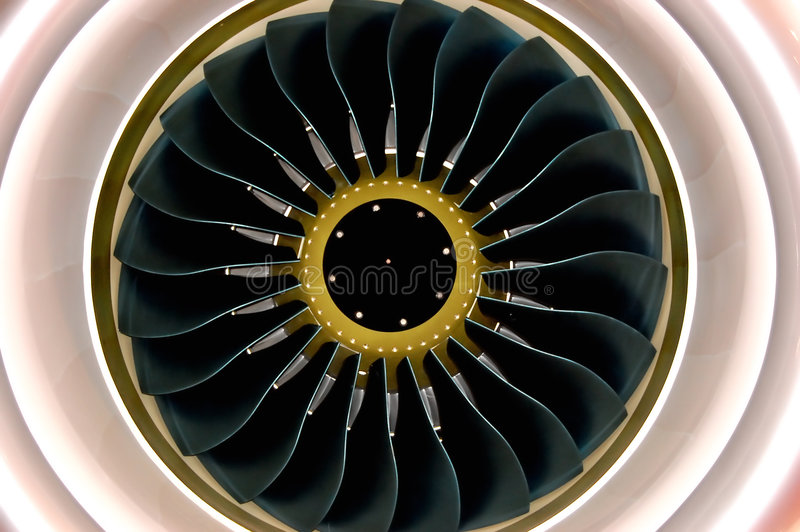 Motore di airbus immagini stock