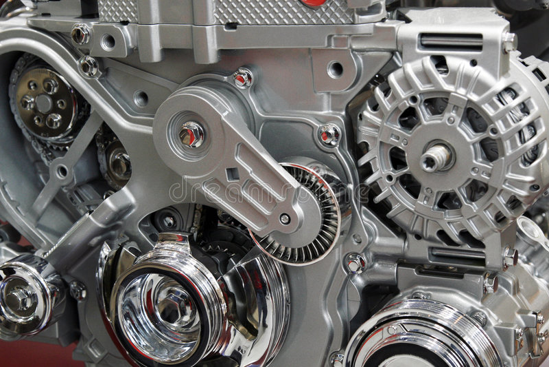 Motore di automobile. immagine stock