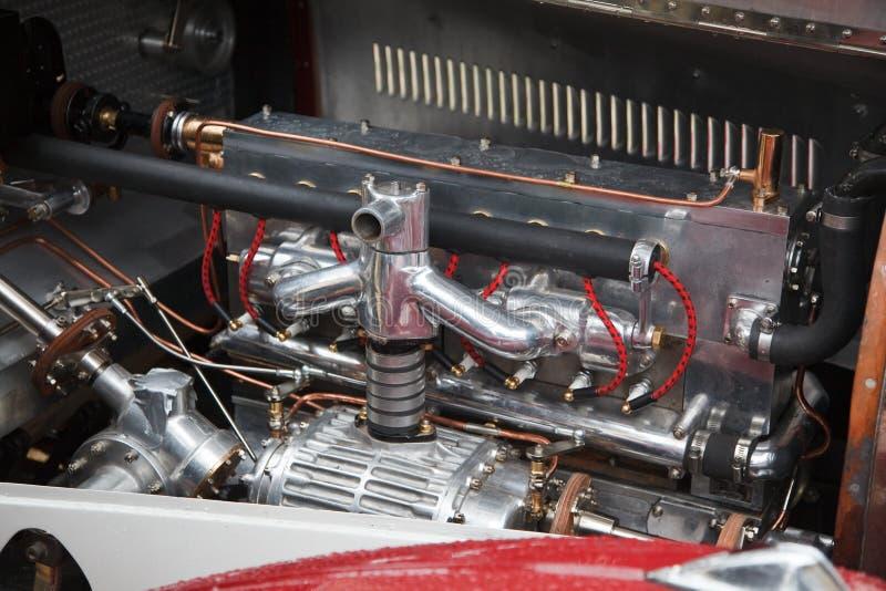 Motore di automobile dell'annata fotografia stock