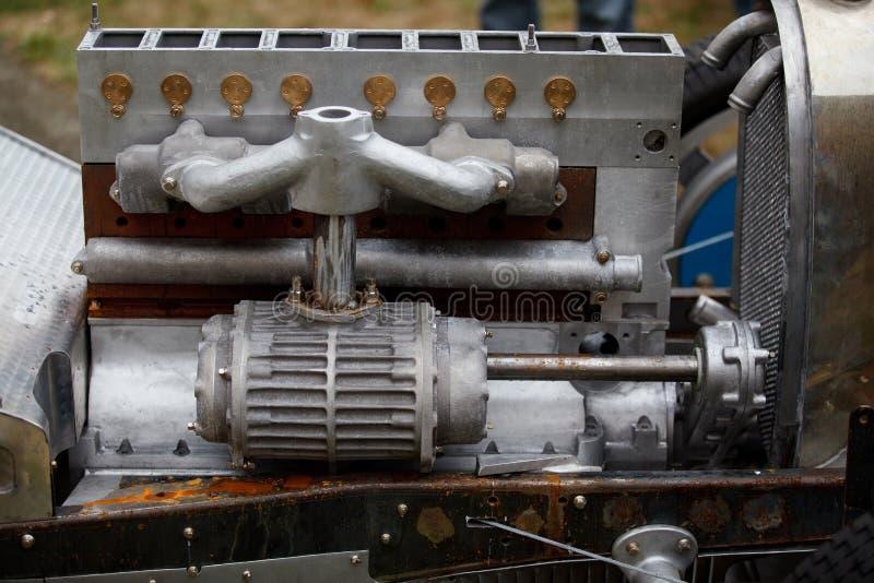 Motore di automobile dell'annata immagine stock