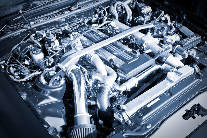 Motore di prestazione fotografia stock