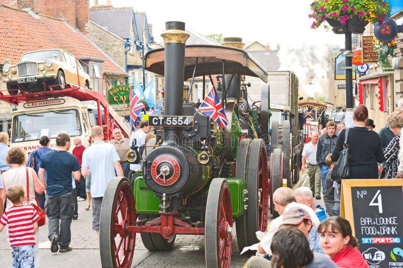 Motore di trazione al raduno di Pickering. fotografia stock