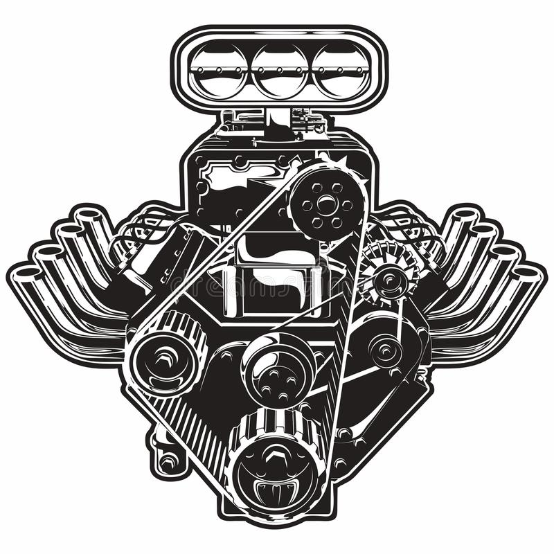 Motore di Turbo del fumetto di vettore royalty illustrazione gratis