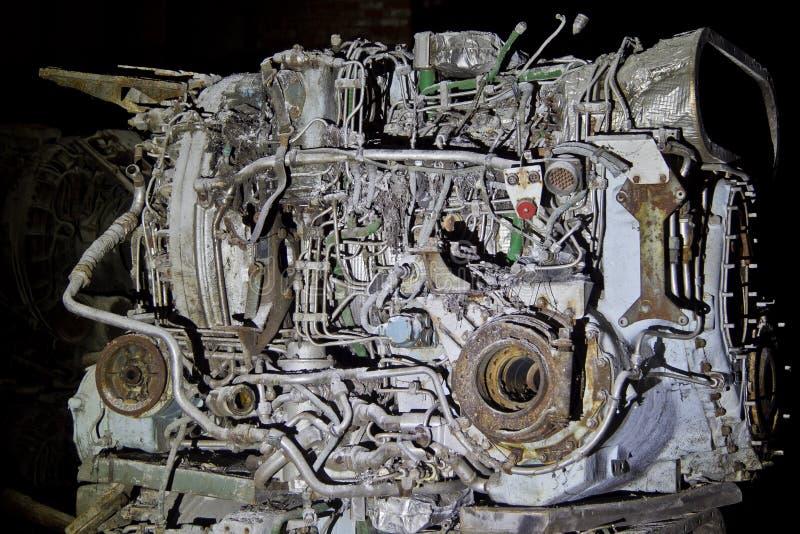 Motore diesel arrugginito abbandonato del carro armato immagine stock libera da diritti