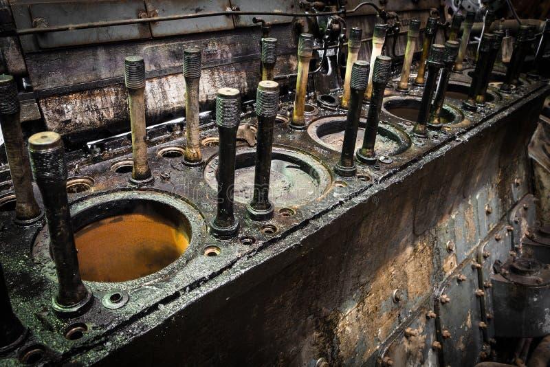 Motore diesel del treno fotografie stock libere da diritti