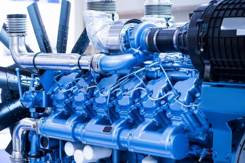 Motore diesel per la barca immagini stock