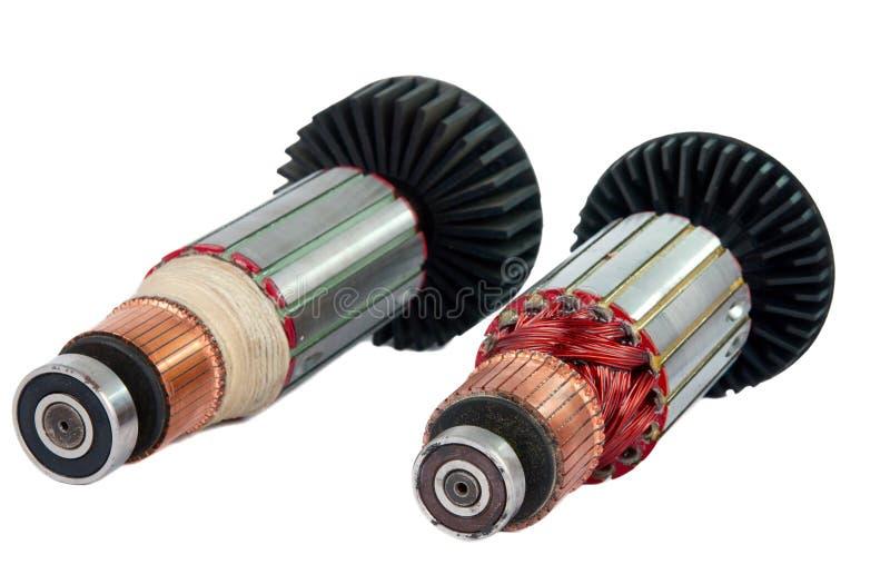 Motore elettrico della parte interna delle bobine del rame fotografia stock libera da diritti