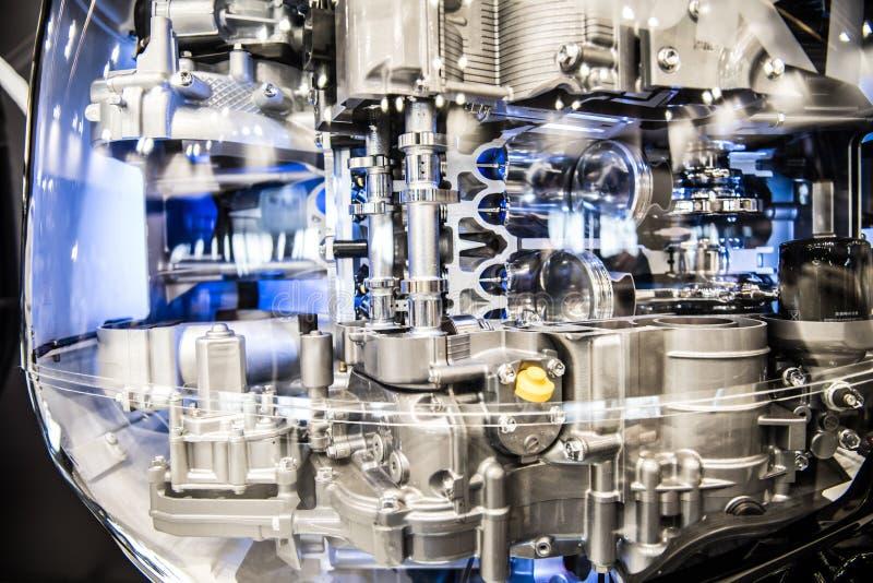 Motore fuoribordo trasparente immagini stock