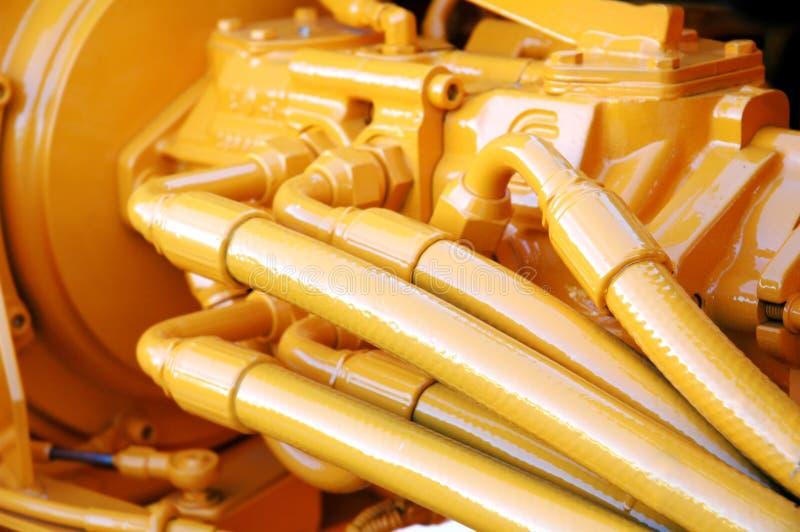 Motore giallo fotografia stock