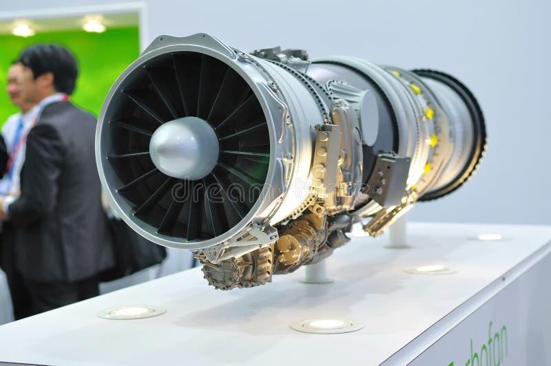 Motore a propulsione su visualizzazione a Singapore Airshow fotografia stock
