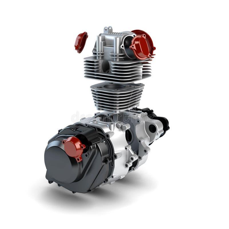 Motore smontato del motociclo illustrazione di stock