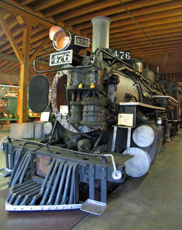 Motore a vapore del carbone in montagne fotografia stock