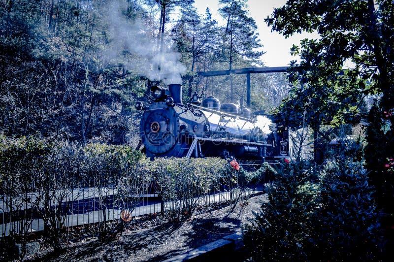 Motore a vapore della montagna immagini stock