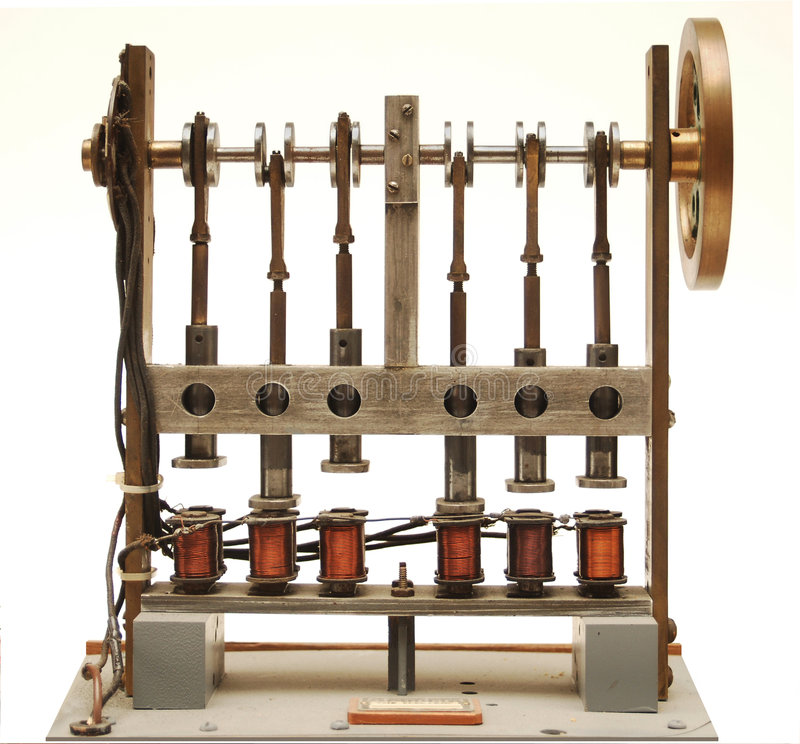 Motore a vapore elettrico fotografia stock libera da diritti