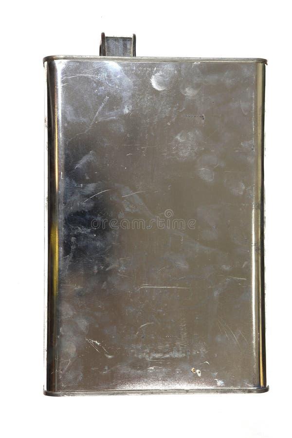 Motoren?l-und Farbe Kanister, Motor?l-Dosen Weinlese lokalisiert auf schwarzem Hintergrund stockfotografie