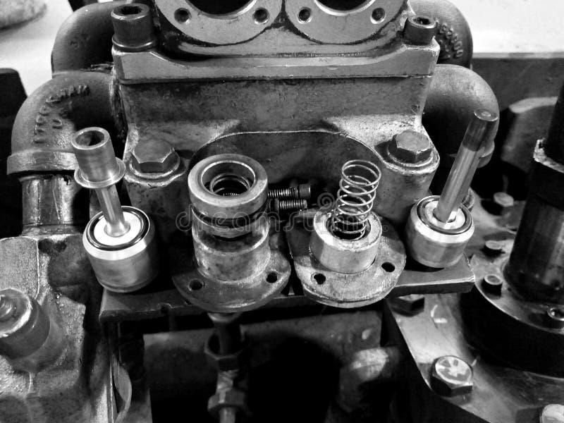 Motoren, machines en industriële delen industriales royalty-vrije stock afbeelding