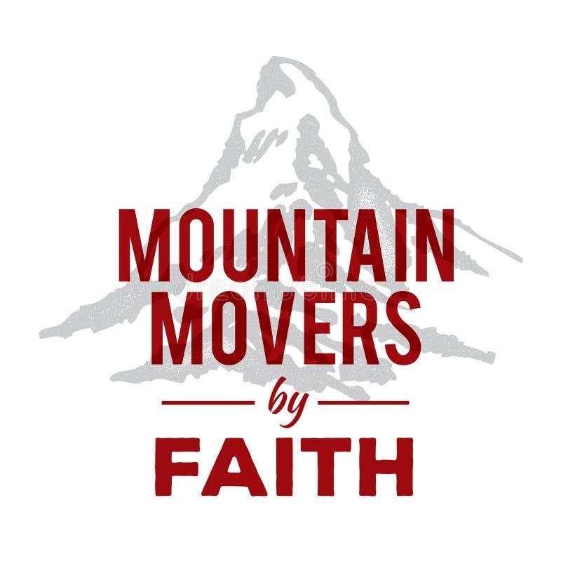 Motores da montanha pela fé ilustração stock