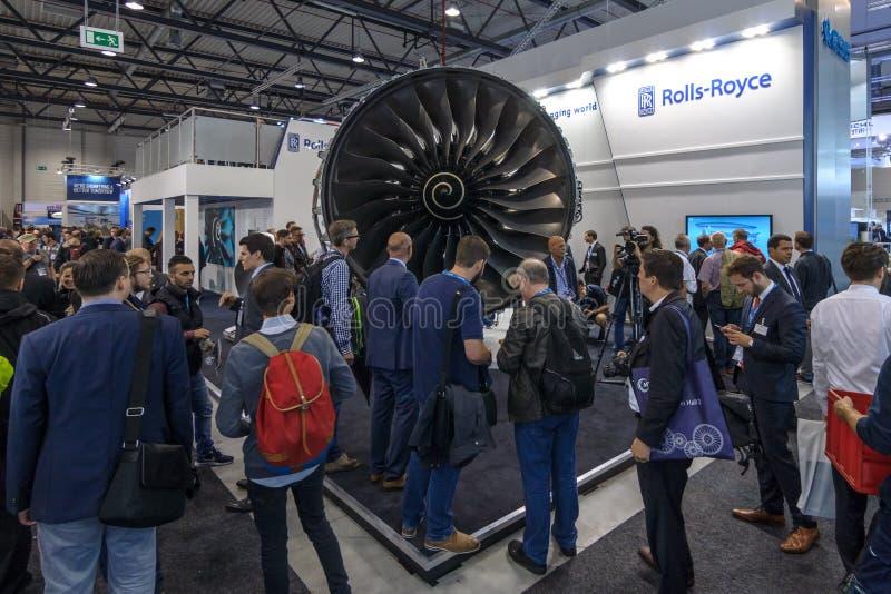Motores de jato Rolls-Royce Trent de Turbofan XWB foto de stock royalty free